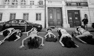 Activistas de Femen en Túnez. The Guardian-Leo Novel/Corbis