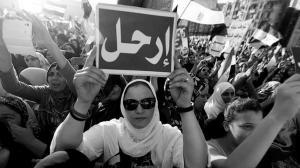 """En muchas de las pancartas contra Mursi podía leerse la palabra """"¡Vete!"""" / EFE"""