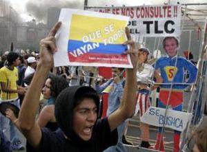 Manifestación contra Lucio Gutiérrez