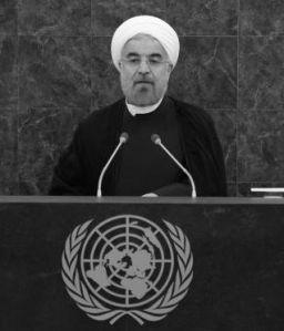 Hassan Rohani en su intervención ante la Asamblea General de la ONU / BRENDAN MCDERMID, EFE
