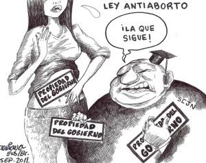 Viñeta sobre la ley antiaborto