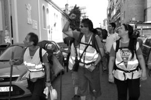 """Foto de la """"Marcha por la dignidad"""" a su paso por Zaragoza / PAH"""