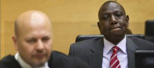El vicepresidente de Kenia, William S. Ruto, en la sala de la CPI