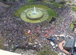La manifestación en Plaza Venezuela el 12 de febrero