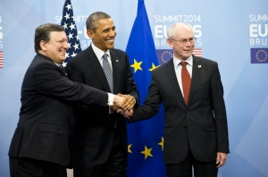 Llegada de Barack Obama a la cumbre con la UE / Consejo Europeo