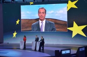 Nigel Farage, líder del UKIP en su valoración de resultados