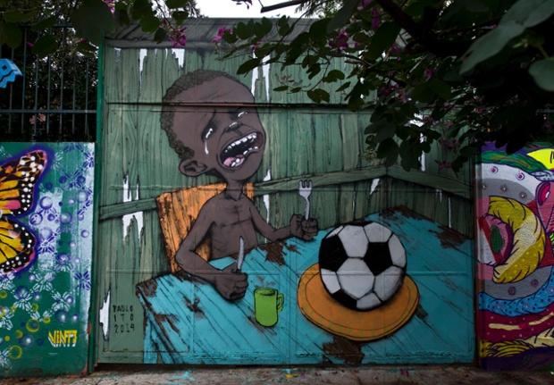 Graffiti del artista brasileño Paulo Ito