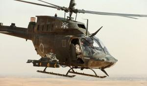 Un helicóptero aterrizando en Iraq / The US Army