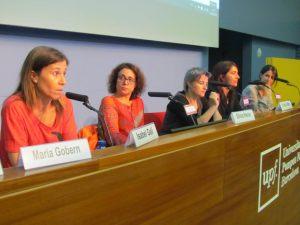 De izq.a dcha. Isabel Galí, Sílvia Heras, Cristina Mas, Célia Cernadas i Gemma Parellada