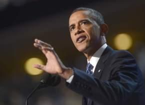 Obama en la conferencia de Charlotte en 2012 (EFE/SHAWN THEW)