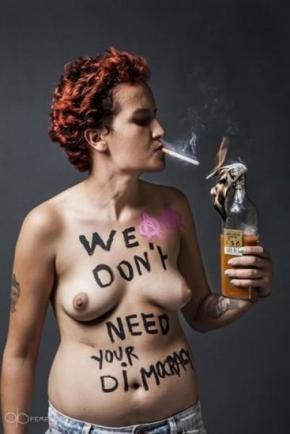 "Amina Sbui, más conocida como Amina Tyler, abandonó la organización feminista FEMEN al considerarla ""islamófoba"" / Foto: FEMEN"