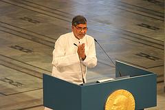 Kailash Satyarthi en la ceremonia del Premio Nobel de la Paz 2014 / Foto: Utenriksdepartementet UD (Flickr)
