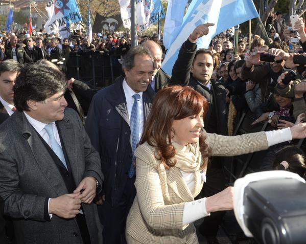 Scioli, Zannini y Cristina Fernández de Kirchner. Fuente: @DanielScioli
