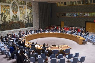 El Consejo de Seguridad de la ONU al momento de adoptar la resolución / UN