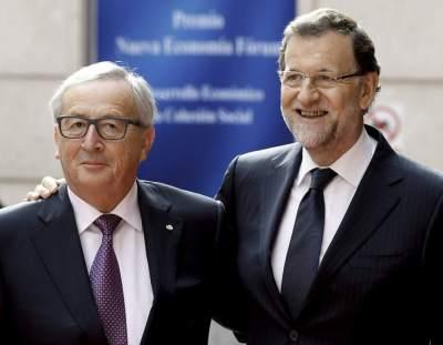 Jean-Claude Junker, presidente de la Comisión Europea, y Mariano Rajoy / Sergio Barrenechea, EFE