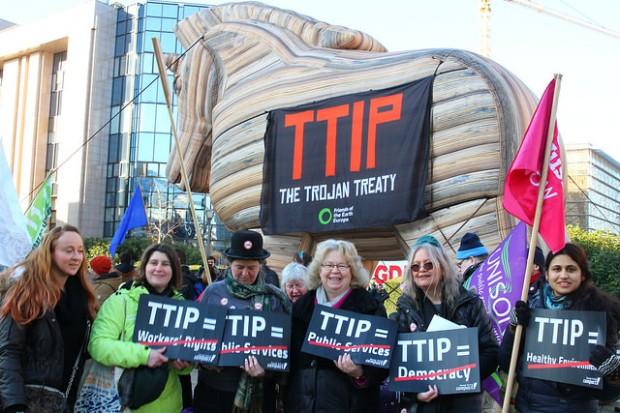 TTIP Trojan Horse. Manifestación Febrero / greensefa