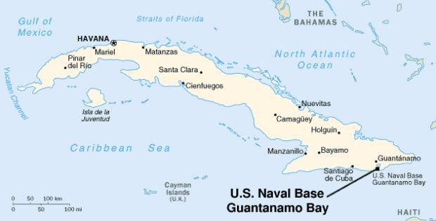 mapa Guantánamo