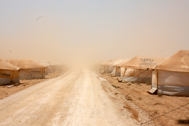 Campo de refugiados en Jordania